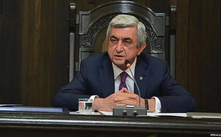 Серж Саргсян возглавит предвыборный список РПА на выборах 2017 года