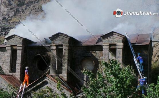Порядка 150 кв. м строения высоковольтной подстанции сгорело в Ереване