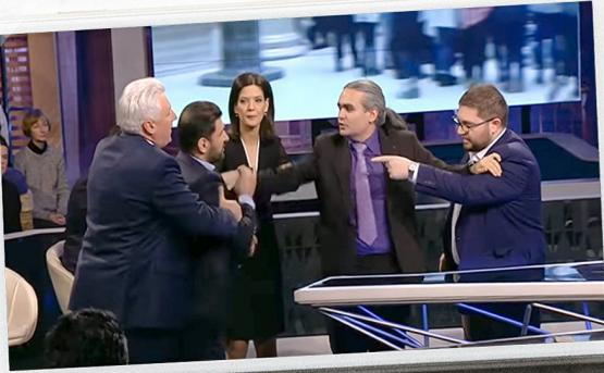 Фуад Аббасов инициировал скандал в ходе прямого эфира