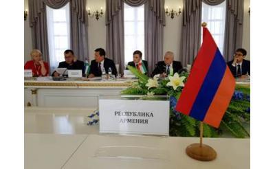 Армянская делегация принимает участие в заседании Совета по делам молодежи стран СНГ в Минске